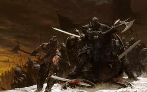 меч, войны, воин, битва, огонь, оружие, дракон, щитом, age, fantasy,