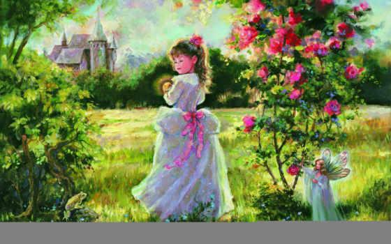 мэри, живопись, baxter, фея, clair, девушка, little, paintings, images,