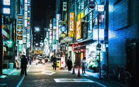 tokyo,, япония, ночь, ginza, photography, изображение, люди,