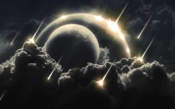 дождь, метеоритный, планеты