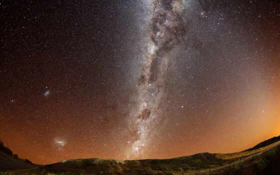 путь, млечный, звезды