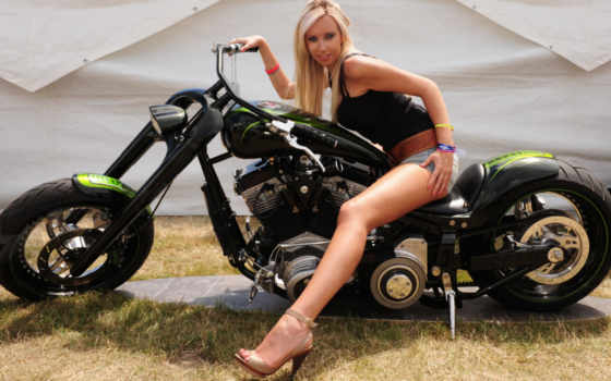 девушка, мотоциклы, devushki