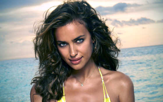 irina, shayk, illustrated