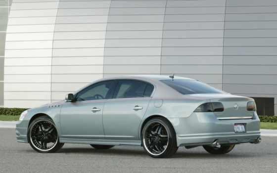 buick, lucerne, серебристо, blue, concept, custom, sema, ретро, toad, авто, машины,