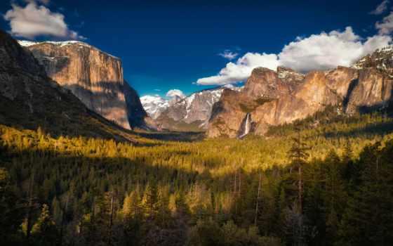 yosemite, park, горы, national, лес, долина, красиво, puzzle, alcatel, природа,