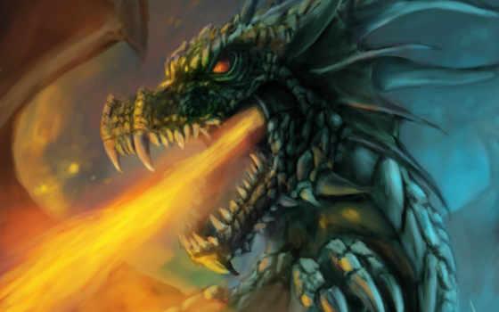 bell, cleaning, защита, фантастика, защиты, рунические, чистки, дракон, огонь, art,