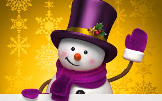 снеговик, winter, праздник, new, год, графика, снежинки, christmas,