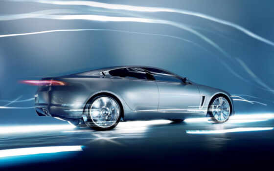 jaguar, xf, car, lightning, speed,