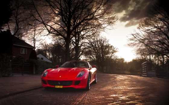 машина, red, ферари