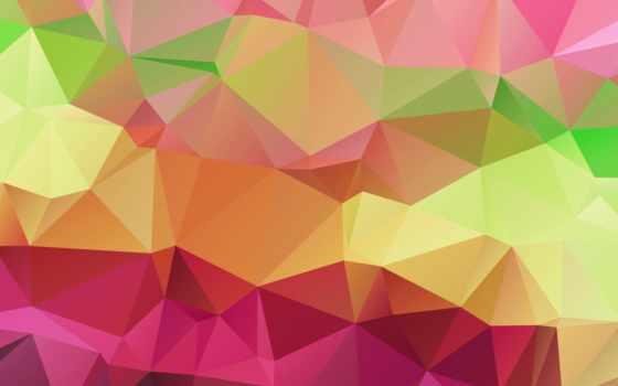 треугольник, color, свет, линии, абстракция, том, pattern, геометрия,
