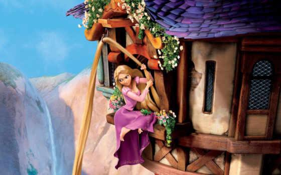 рапунцель, замок, принцесса