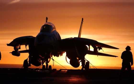 самолёт, ocean, авианосец