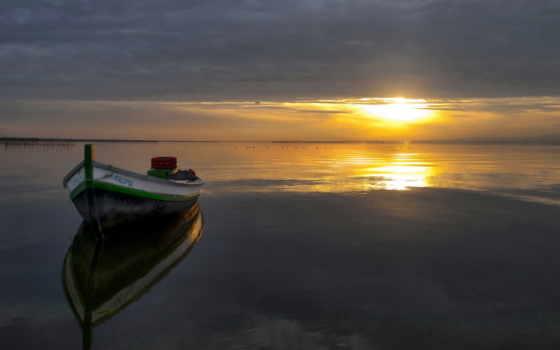 вечер, закат, красивые