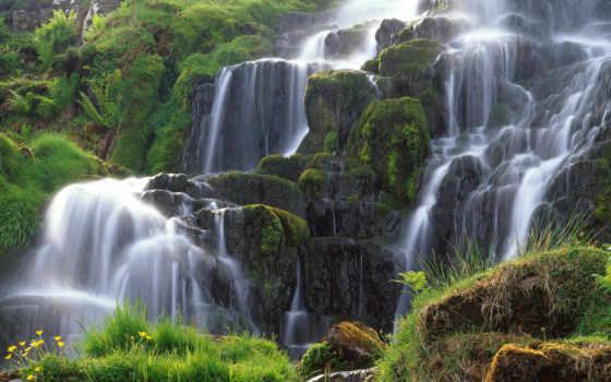 водопад, красивые, водопады
