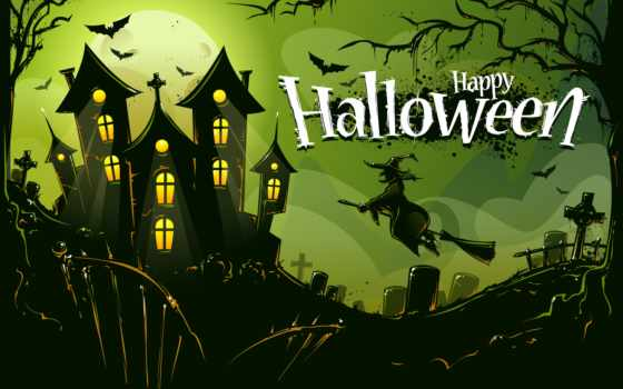halloween, праздники, праздник, кладбище, happy, castle, птицы, картинка, тыквы, загрузок,