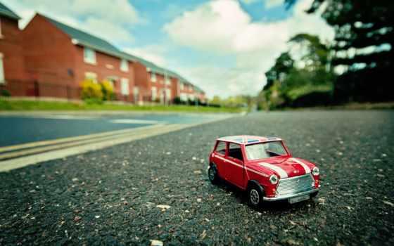 машина, улица, макро