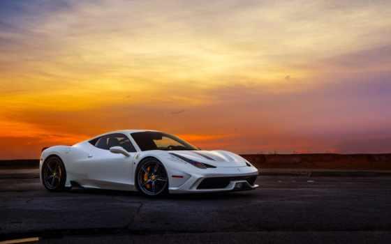 ferrari, italia, суперкар, speciale, white, samochód, tapety,