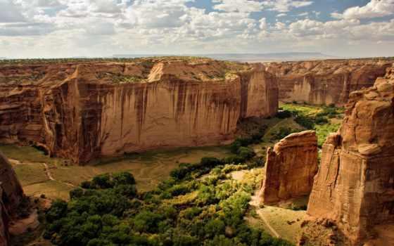 national, chelly, каньон, памятник, сша, пилами, видимости, всей,