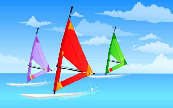 доска, виндсёрфинг, sail, небо, niutuku,
