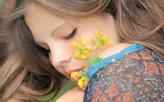 лицо, цветок