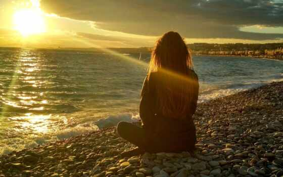 девушка, моря, море, олег, закат, stokovyi, goldfinch, sun, simple, zakat