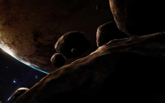 космос, planet, land, star,