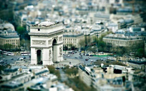 город, париж, площадь,