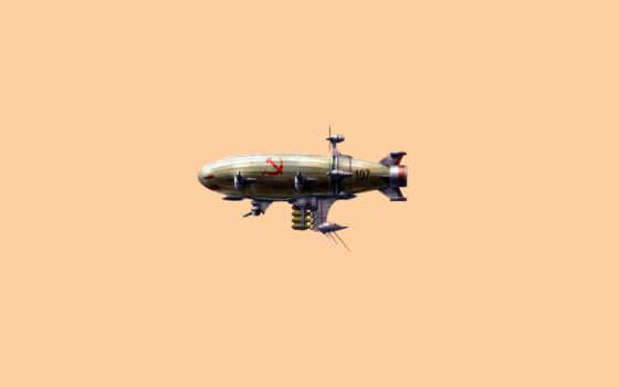 светлый, серп, молот, airship, dirigible, картинка,