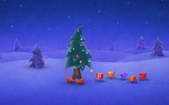 зима, елка Фон № 31361 разрешение 1600x1200