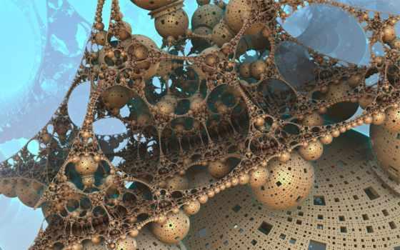 futuristic, fractals, rendering