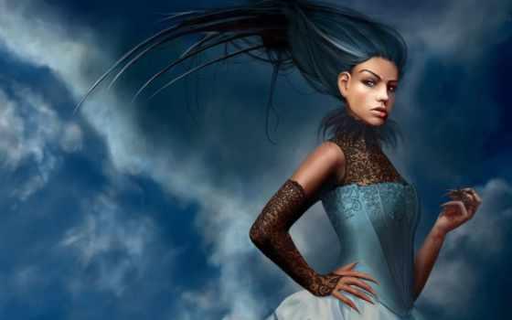 ,волосы, девушка, корсет, dahlig, fantasy, artist, картины, красивые,
