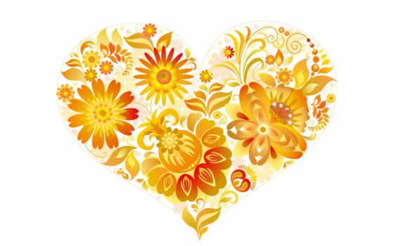 сердце, красивое