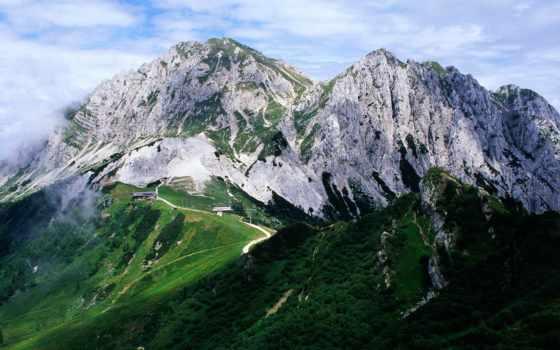 горы, альпы, италии, красивые, winter,