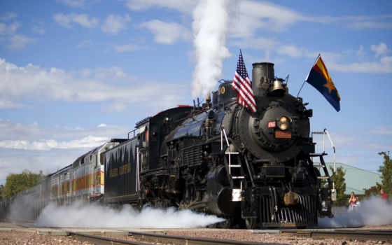 grand, каньон, williams, железный, arizona, polar, express, поезд, прокатиться,