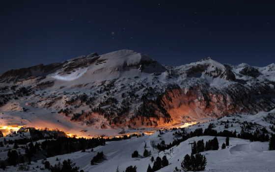 ecran, fonds, природа, alpes, fond, étoiles, nuit, haute, images, montagnes,