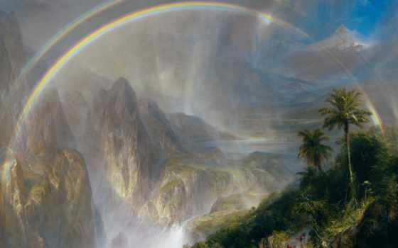 church, edwin, frédéric, rainy, season, tropics, art, print, google,