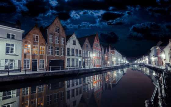 ночь, город, desktop, clouds, qy,