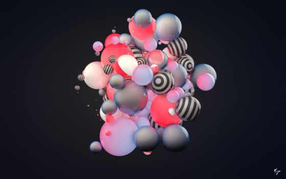 абстракция, шары Фон № 20447 разрешение 2560x1600