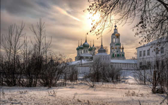 orthodox, winter, churches