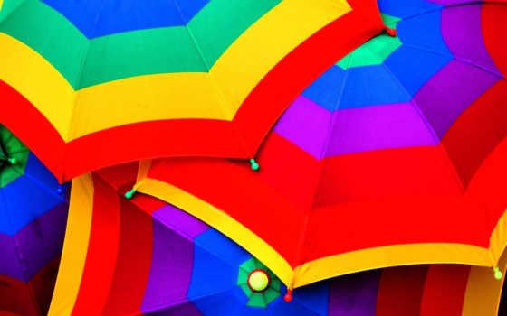 зонтики, яркие, абстрактные, страница, яркий, красивые, абстракция,