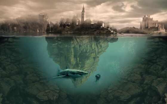 pantalla, live, great, город, день, art, акула, secret, within, world