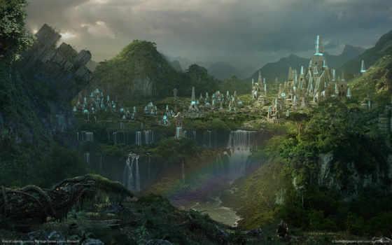 пейзаж, водопады