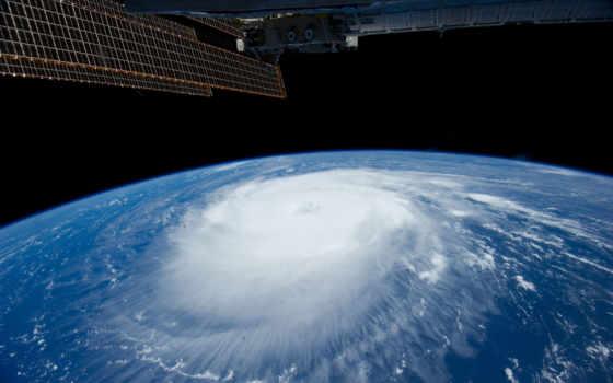 мкс, ураган, земля, katia, стихия, облака, космос,