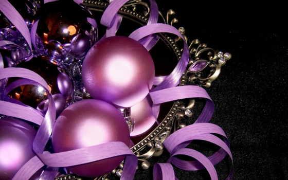 новогодние, дек, красивые, часть, праздника, год,