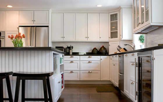 кухни, интерьер, шкафы