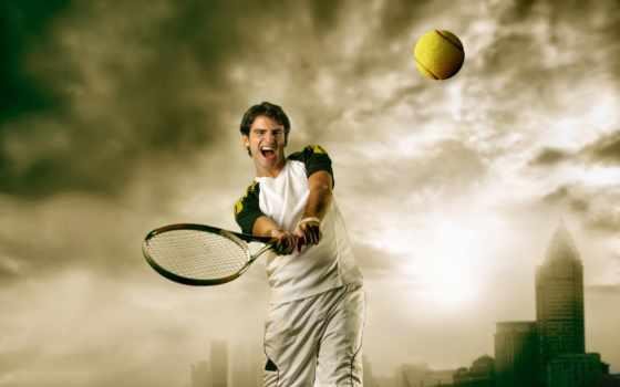 tennis, ракетка, девушка