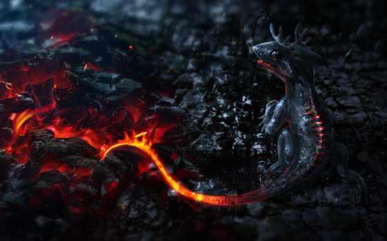 art, фэнтези, дракон, драконы, огонь, разделе, small,