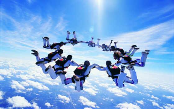 спорт, extreme, парашютом