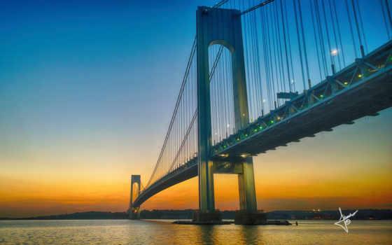 мост, verrazano, narrows,