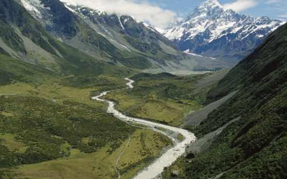 mount, cook, новая, zealand, new, national, park, новой, зеландии, кука,